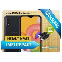 SAMSUNG A01 A015  REMOTE BAD IMEI BLACKLISTED REPAIR FIX INSTANT