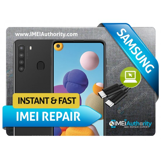 SAMSUNG A21 A215 REMOTE BAD IMEI BLACKLISTED REPAIR FIX INSTANT