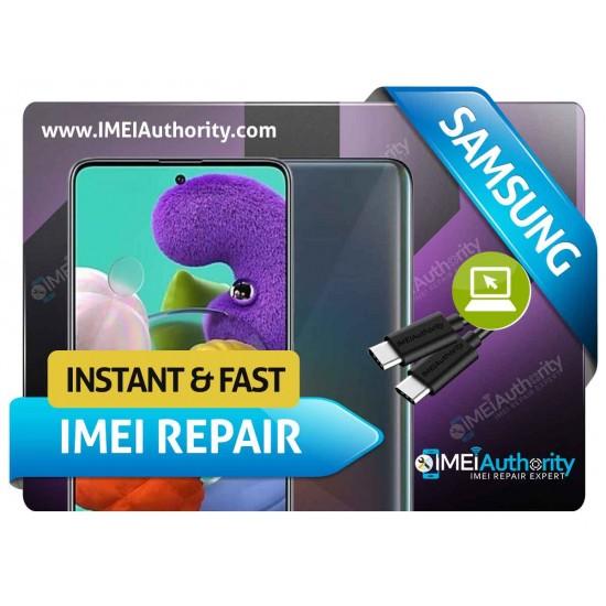 SAMSUNG GALAXY A515F  REMOTE BAD IMEI BLACKLISTED REPAIR FIX INSTANT
