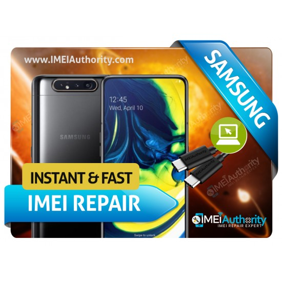 SAMSUNG GALAXY A80 A805 REMOTE BAD IMEI BLACKLISTED REPAIR FIX INSTANT