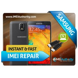 SAMSUNG NOTE 3 N900 REMOTE BAD IMEI BLACKLISTED REPAIR FIX INSTANT