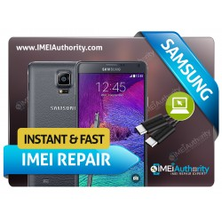 SAMSUNG NOTE 4 N910 REMOTE BAD IMEI BLACKLISTED REPAIR FIX INSTANT