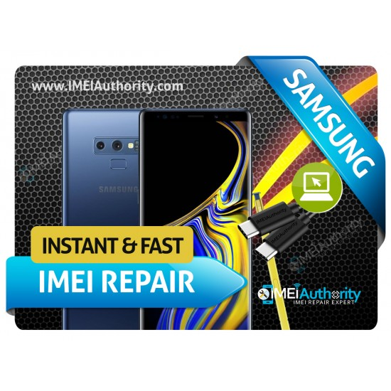 SAMSUNG NOTE 9 N960 REMOTE BAD IMEI BLACKLISTED REPAIR FIX INSTANT