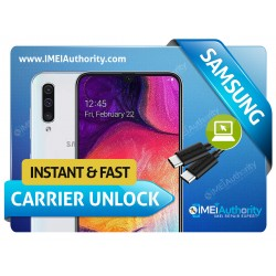 SAMSUNG GALAXY  A50 A505 INSTANT REMOTE CARRIER UNLOCK