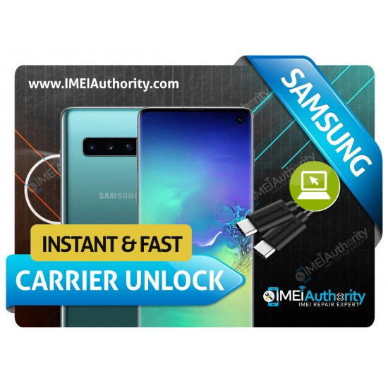 SAMSUNG GALAXY S10 S10+ S10E S10 5G SAMSUNG REMOTE CARRIER UNLOCK SPRINT AT&T T-MOBILE CANADIAN INTERNATIONAL