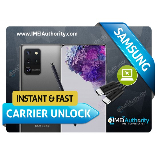 SAMSUNG GALAXY S20 S20+ S20 ULTRA REMOTE CARRIER UNLOCK