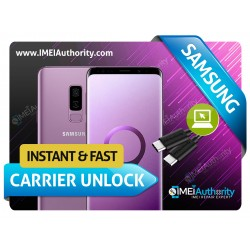 SAMSUNG GALAXY S9 S9+ G960 G965 INSTANT REMOTE CARRIER UNLOCK