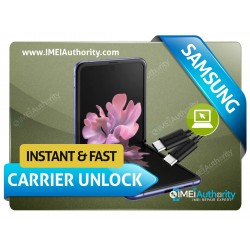 SAMSUNG GALAXY Z FLIP F700U REMOTE CARRIER UNLOCK