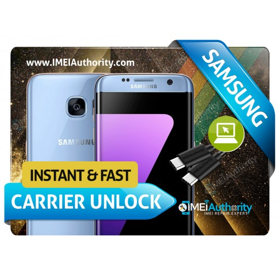 SAMSUNG GALAXY S7 (G930 ) S7 EDGE (G935) S7 (G891 ) INSTANT REMOTE CARRIER UNLOCK